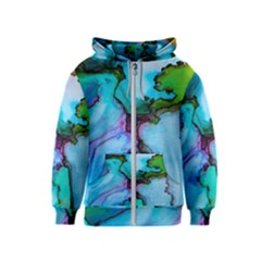 Abstract Painting Art Kids  Zipper Hoodie