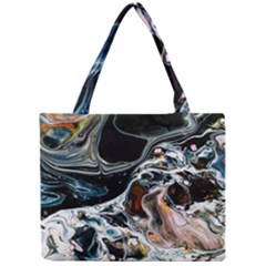Abstract Flow River Black Mini Tote Bag