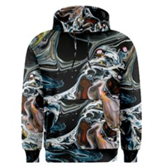 Abstract Flow River Black Men s Pullover Hoodie