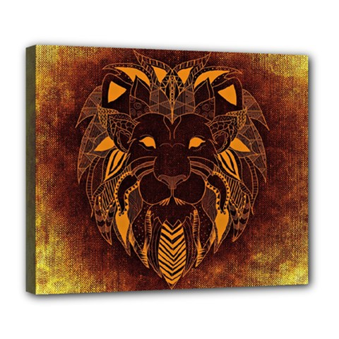 Lion Wild Animal Abstract Deluxe Canvas 24  X 20