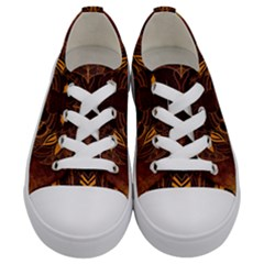 Lion Wild Animal Abstract Kids  Low Top Canvas Sneakers