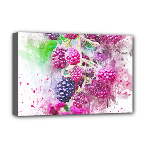Blackberry Fruit Art Abstract Deluxe Canvas 18  X 12