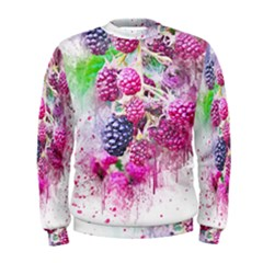 Blackberry Fruit Art Abstract Men s Sweatshirt