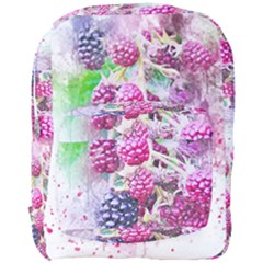 Blackberry Fruit Art Abstract Full Print Backpack