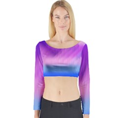 Background Art Abstract Watercolor Long Sleeve Crop Top