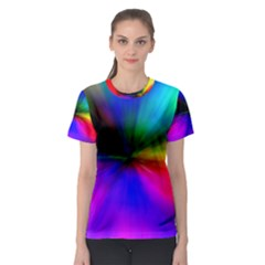 Creativity Abstract Alive Women s Sport Mesh Tee