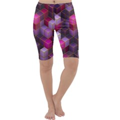 Cube Surface Texture Background Cropped Leggings