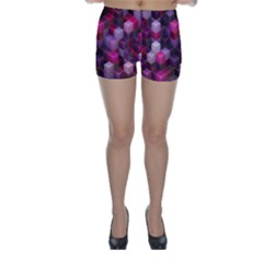 Cube Surface Texture Background Skinny Shorts