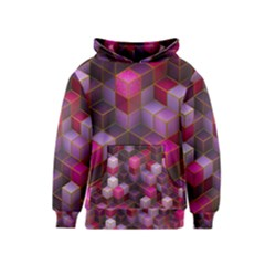 Cube Surface Texture Background Kids  Pullover Hoodie