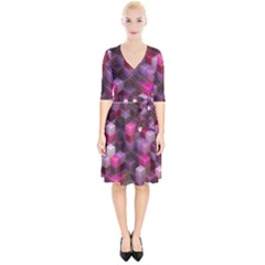 Cube Surface Texture Background Wrap Up Cocktail Dress