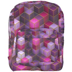 Cube Surface Texture Background Full Print Backpack