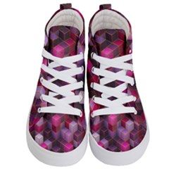 Cube Surface Texture Background Kid s Hi Top Skate Sneakers