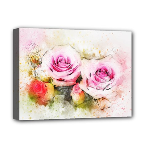 Flower Roses Art Abstract Deluxe Canvas 16  X 12