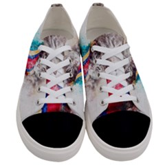Cat Kitty Animal Art Abstract Women s Low Top Canvas Sneakers