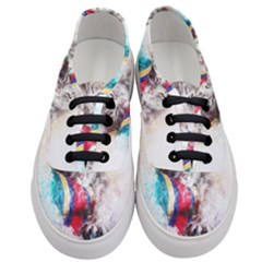 Cat Kitty Animal Art Abstract Women s Classic Low Top Sneakers