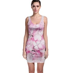 Flower Pink Art Abstract Nature Bodycon Dress