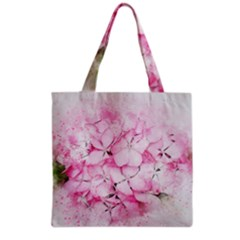 Flower Pink Art Abstract Nature Grocery Tote Bag