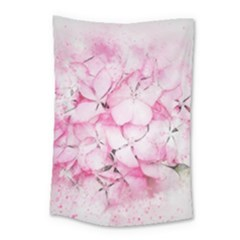 Flower Pink Art Abstract Nature Small Tapestry