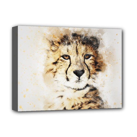 Leopard Animal Art Abstract Deluxe Canvas 16  X 12