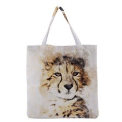 Leopard Animal Art Abstract Grocery Tote Bag