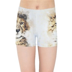 Leopard Animal Art Abstract Kids Sports Shorts