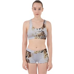 Leopard Animal Art Abstract Work It Out Sports Bra Set