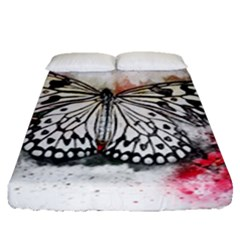 Butterfly Animal Insect Art Fitted Sheet (queen Size)