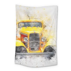 Car Old Art Abstract Small Tapestry