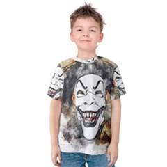 Mask Party Art Abstract Watercolor Kids  Cotton Tee