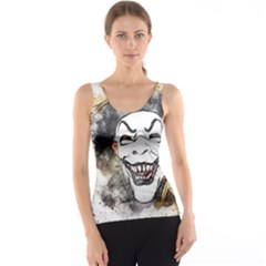 Mask Party Art Abstract Watercolor Tank Top