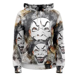 Mask Party Art Abstract Watercolor Women s Pullover Hoodie