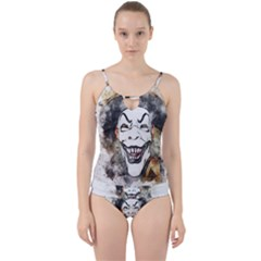 Mask Party Art Abstract Watercolor Cut Out Top Tankini Set