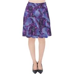 Techno Grunge Punk Velvet High Waist Skirt