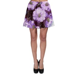 Flowers Purple Nature Art Abstract Skater Skirt