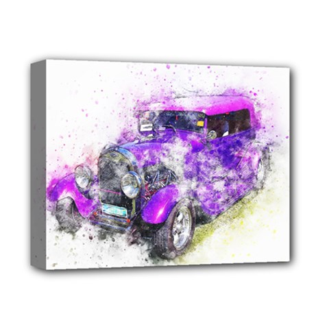 Car Old Car Art Abstract Deluxe Canvas 14  X 11