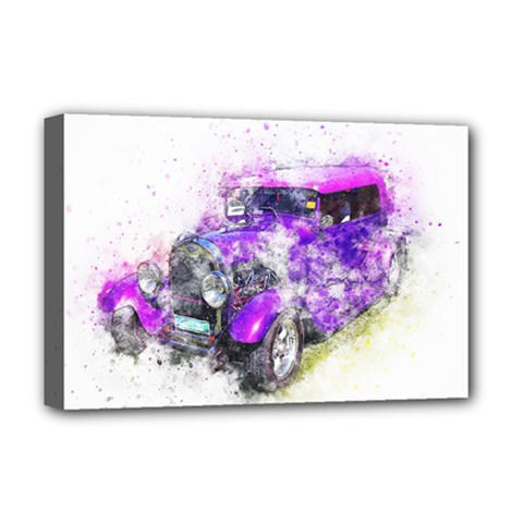 Car Old Car Art Abstract Deluxe Canvas 18  X 12