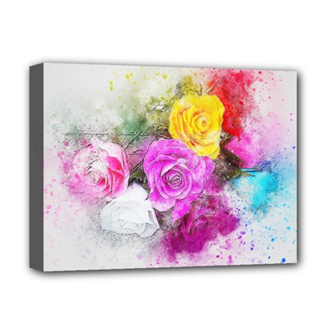 Flowers Bouquet Art Abstract Deluxe Canvas 16  X 12