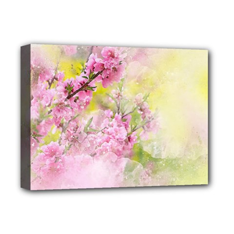 Flowers Pink Art Abstract Nature Deluxe Canvas 16  X 12