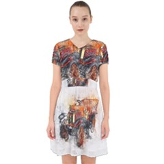 Car Old Car Art Abstract Adorable In Chiffon Dress