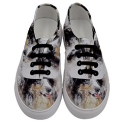 Dog Shetland Pet Art Abstract Men s Classic Low Top Sneakers