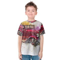 Car Old Car Art Abstract Kids  Cotton Tee