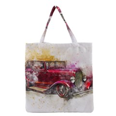 Car Old Car Art Abstract Grocery Tote Bag