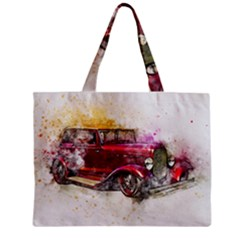 Car Old Car Art Abstract Zipper Mini Tote Bag