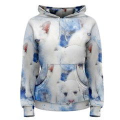 Dog Cats Pet Art Abstract Women s Pullover Hoodie