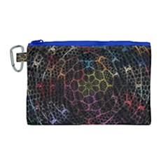 Background Grid Art Abstract Canvas Cosmetic Bag (large)