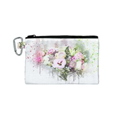 Flowers Bouquet Art Abstract Canvas Cosmetic Bag (small)