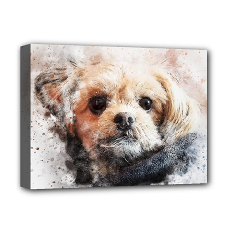 Dog Animal Pet Art Abstract Deluxe Canvas 16  X 12
