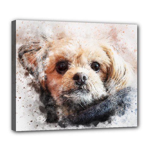 Dog Animal Pet Art Abstract Deluxe Canvas 24  X 20