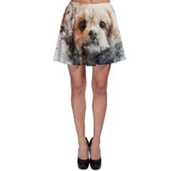 Dog Animal Pet Art Abstract Skater Skirt