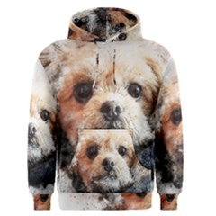 Dog Animal Pet Art Abstract Men s Pullover Hoodie